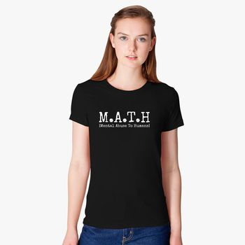 MATH Mental Abuse to Humans Black Juniors Soft T-Shirt
