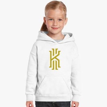 d81bf7740415 Kyrie Irving logo gold Kids Hoodie