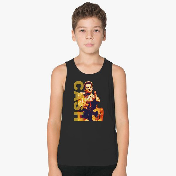 88bde2759 Johnny Cash Classic Middle Finger Kids Tank Top | Hoodiego.com