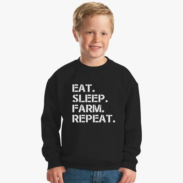 8d2ad0258 Eat Sleep Farm Repeat, Gift Funny to father, Father's Day Farmer. fathers  day, father Kids Sweatshirt | Hoodiego.com