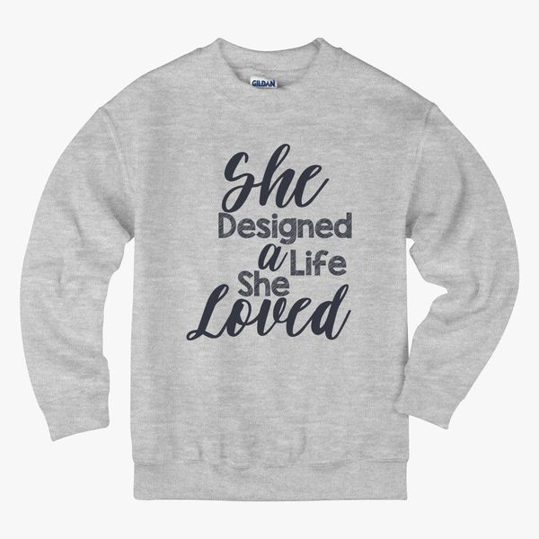 DESIGN OF LIFE Kids Sweatshirt - Hoodiego com