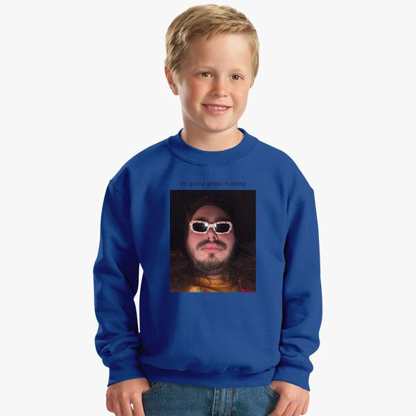 Post Malone Going Ghost Hunting Kids Sweatshirt