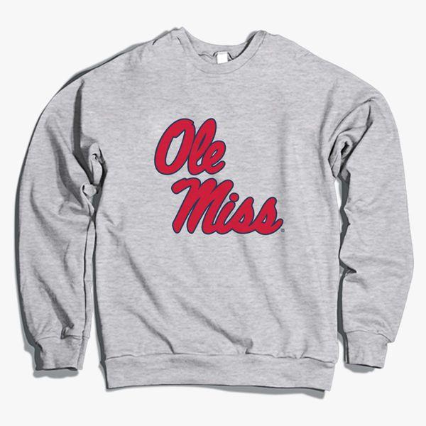 e3f60754 Ole Miss Rebel Crewneck Sweatshirt | Hoodiego.com